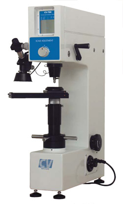 Analogue, universal hardness tester for reliable Rockwell, Brinell and Vickers testing