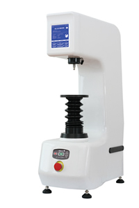 Bench hardness tester with protruding nose for internal tests, regular and superficial scales