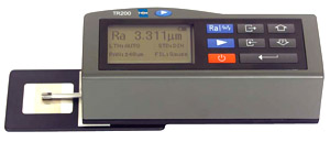 Handheld menu operated surface roughness tester