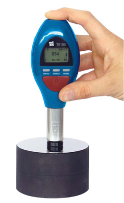 Handheld dynamic metal hardness tester with integrated Impact device